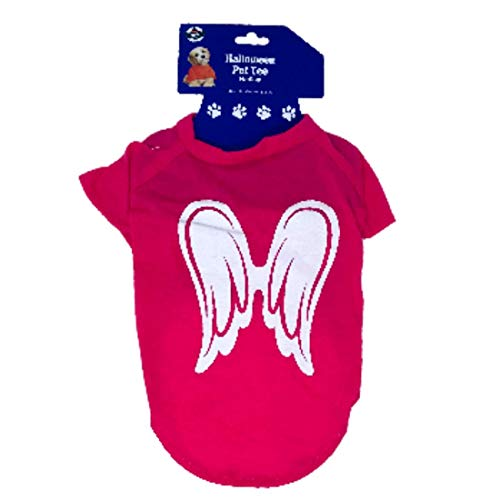 Halloween Pet Tee Medium Size with Angel Wings 14 inch x 16 inch]()