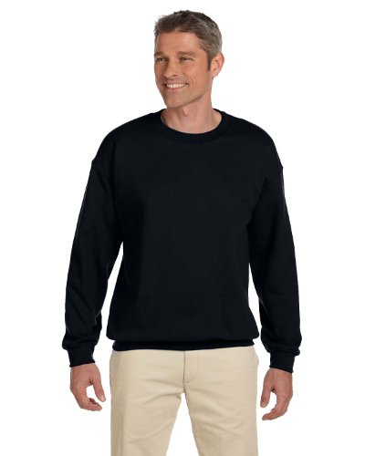 Gildan Men's Heavy Blend Crewneck Waistband Sweatshirt, Black, Small