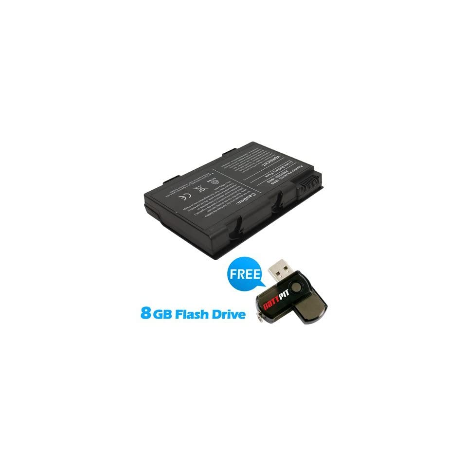 Battpit™ Laptop / Notebook Battery Replacement for Toshiba Satellite M40X 185 (4400 mAh) with FREE 8GB Battpit™ USB Flash Drive