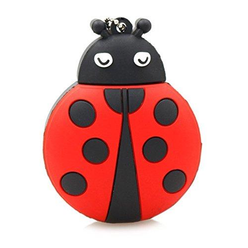 SODIAL USB 2.0 Flash Drive Cute Animal Ladybug Shape Pen Drive Memory Stick Thumb Drive Jump Drive Flash Drive Pendrive(32Gb)