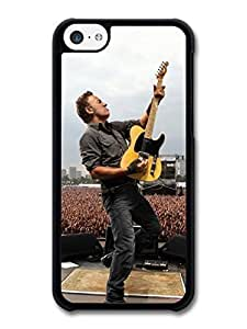 MMZ DIY PHONE CASEAMAF ? Accessories Bruce Springsteen Concert Live Yellow Guitar case for iphone 5c