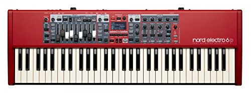 Nord Electro 6D 61 Stage Piano, 61-Note Semi-Weighted Waterfall Keybed from Nord