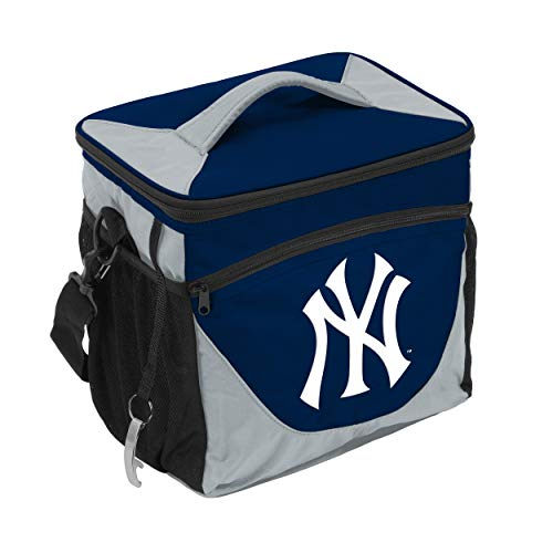 (Logo Brands MLB New York Yankees 24 Can Cooler, Team Color, Small )