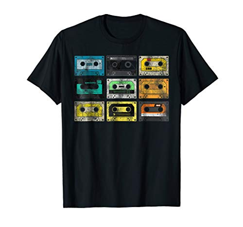 Shirt Retro 1980s - Vintage Audio Cassette Shirt 80s 90s Retro
