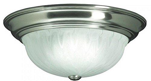 Dolan Designs 3 Light (Dolan Designs 523-09 Richland 3 Light Flush mount, Satin Nickel)