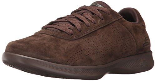 Skechers Performance Women's Go Step Lite-14700 Walking Shoe, Chocolate, 7.5 M US