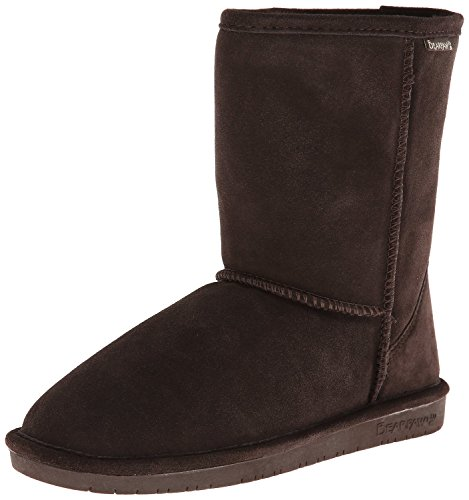 Cow Print Clogs - BEARPAW Womens Emma Short Shearling Boots 608-W (6, Chocolate)