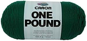 Caron One Pound Yarn, 16 Ounce, Kelly Green, Single Ball