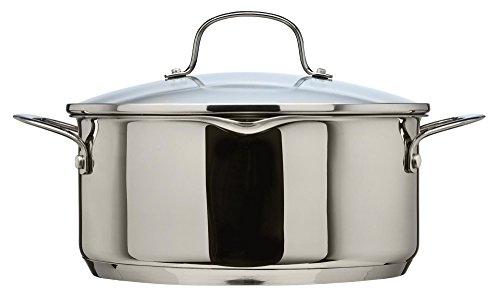 Casserole Thomas1404903 DE 20cm avec Couvercle en Verre – Contenance DE 2,8l, Silver, Casserole 24 cm Cook & pour