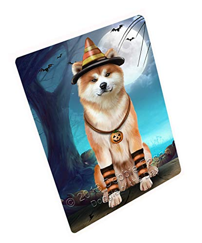 Doggie of the Day Happy Halloween Trick or Treat Akita Dog Candy Corn Magnet MAG61593 (Mini 3.5