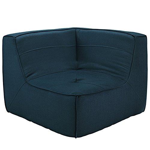 Modway Align Upholstered Corner Sofa in Azure