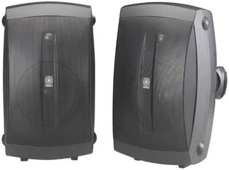 Yamaha NS-AW350B All-Weather Indoor/Outdoor 2-Way Speakers - Black (Pair)