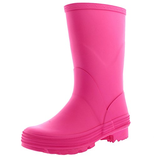 Kids Wellington (Polar Unisex Kids Stable Waterproof Winter Muck Wellington Snow Yard Rain Boot - Pink - US5/EU37 - BL0260)