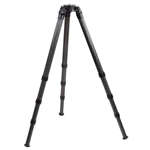 ProMediaGear Pro-Stix 4-Section Long Carbon Fiber Tripod with 42mm Diameter Legs, 125 lbs Capacity, 77'' Max Height