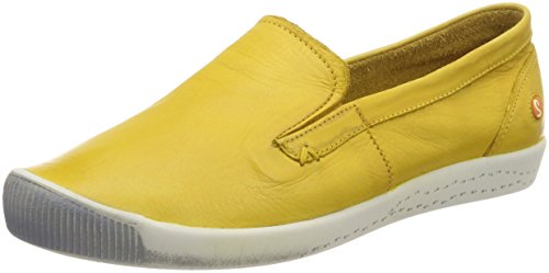 Softinos Ita298sof Washed, Mocassini Donna Gelb (Yellow)