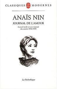 Journal, 1932-1939 : Inceste - Le Feu - Comme un arc-en-ciel par Anaïs Nin