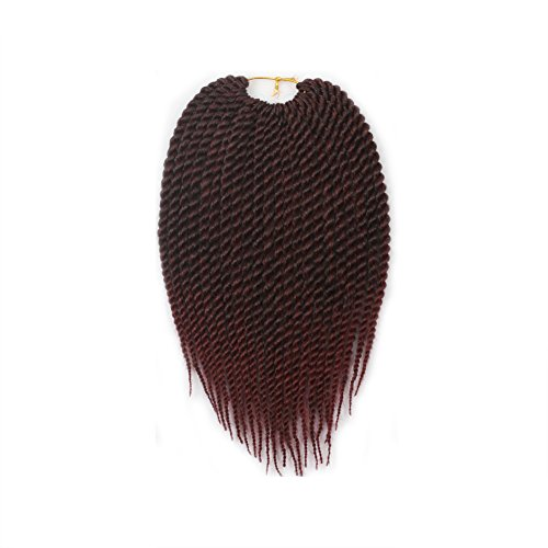 (8pcs 12inch 22Strands Ombre Senegalese Twist Hair Crochet Braid Synthetic Hair Extensions 75g/Pack (1b/530#, 8Pack))