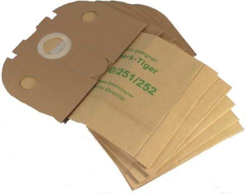 251 252, 20 Staubsaugerbeutel mit Filter geeignet für Vorwerk Tiger 250