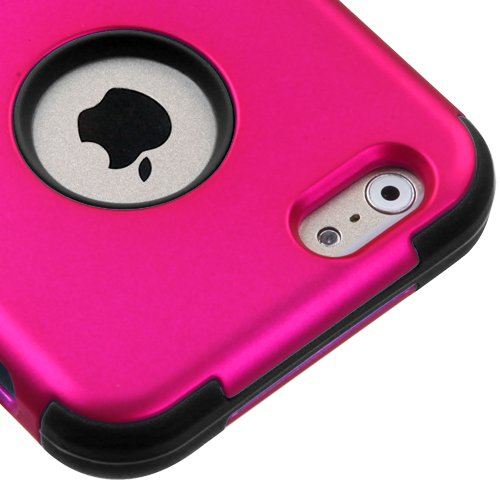 Apple Iphone 6 Pink Black Travel Phone Protective Cover Case With Screen Protector, Momiji® Stylus Pen and Cleaning Cloth