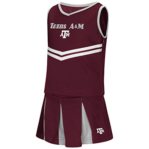 Colosseum NCAA Toddler-Girls Team Cheer Set-Texas A&M Aggies-4T