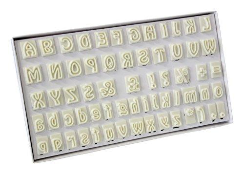 JEM 64 Piece Alphabet Plastic Cutter Set