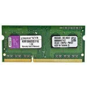 Kingston ValueRAM KVR1066D3S7/1G 1GB DDR3 RAM 1066MHz PC3-8500 204-Pin Laptop SODIMM