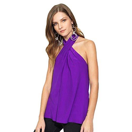 Silk Blouse Amanda (Amanda Uprichard Womens Novara Top Ultraviolet Medium)