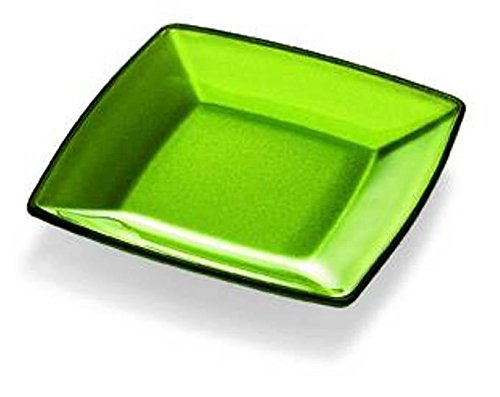 Charger Square Green Plates - Barski - European Quality - Glass - Green - Square - Plate - 9