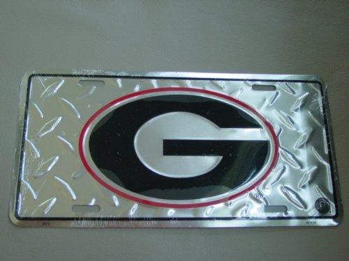 6x12-university-of-georgia-g-diamond-cut-ncaa-tin-license-plate