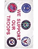 Cheap 3×5 ft Military We Support Our Troops 5 Branches Service nylon poly Banner Flag