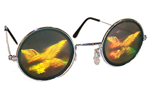 Flying Eagle Hologram 3d Novelty Adult Unisex - Sunglasses Hologram