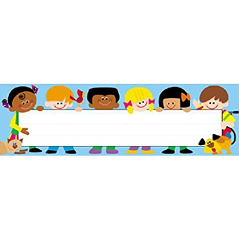 Amazon Com Desk Toppers Trend Kids Name Tag Set Of 3 Office