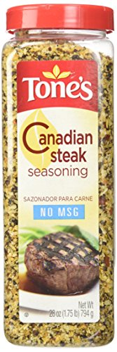 Tone's Canadian Steak Seasoning (28 ounce shaker) (Garlic Tones Pepper Seasoning)