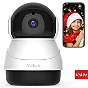 #LightningDeal 72% claimed: Victure 1080P FHD WiFi IP Camera Indoor Wireless Security Camera Motion Detection Night Vision Home Surveillance Monitor 2-Way Audio Baby/Pet/Elder