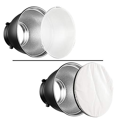 Soonpho 7'' Standard Reflector Diffuser Lamp Shade Dish with 10° /30°/ 50° Degree Honeycomb Grid White Soft Cloth for Bowens Mount Studio Strobe Flash Light Speedlite by soonpho (Image #4)