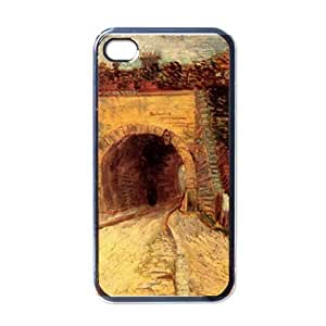 Roadway With Underpass The Viaduct By Vincent Van Gogh Black Iphone 4 - Iphone 4s Case