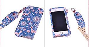 Thinkcase carryberry 4 4S Pattern Flower Leather phone case neck hanging wear strap rope cover for iphone 4 BC03