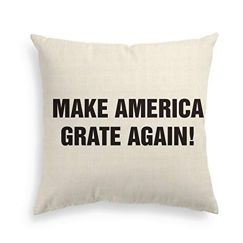 Artoid Motivational Quote Holiday Linen Decorative Throw Pillow Cover Case Abraham Lincoln, Theodore Roosevelt, Barrack Obama | 18 x 18 Inch Invisible Zipper Cushion Protector for Sofa ()