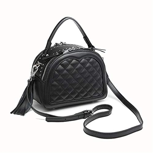 Paquete verstil de Femenino Bag Bolsos de de Bolso Borla Diagonal Negro Mujer seoras Shoulder Crossbody Totes Hombro Negro Femenino Hobo Almacenamiento Las Color Xuanbao Bags wEPZqZ