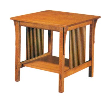 Cheap Build-Your-Own Mission End Table Plan – American Furniture Design