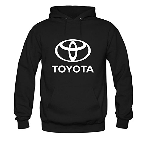 Toyota Logo Mens hoody Sweatshirt L Black