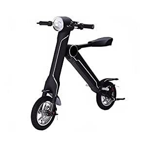 CleveYoung cBike Foldable Electric Scooter 15mile/h Max Speed 8.8AH 20-30Miles Running Range Black