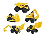 time machine kit - Road Rippers CAT Mini Machine Free-Wheeling Construction Playtime Truck Kit (5 Pack: 1 x Dump Truck, 1 x Wheel Loader, 1 x Excavator, 1 x Bulldozer, 1 x Backhoe)