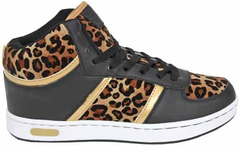 leopard print high top trainers
