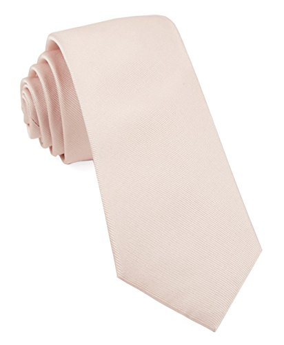 The Tie Bar 100% Woven Silk Grosgrain Solid Blush Pink Skinny Tie