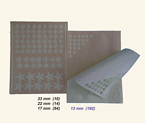 Kit of 270 fluorescent STARS + STENCIL of 2 m². EXACT REPRODUCTION OF THE SKY +2 MAPs with indications. Astronomy on ceiling or wall. Phosphorescent stickers. Glow in the dark stars by Encambio Alcrea (Image #4)