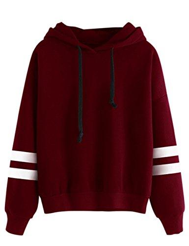 elegantstunning Sudadera Suéter Caliente Casual Deportivo Conciso Color Sólido con Capucha Manga Larga de Moda Suelto...