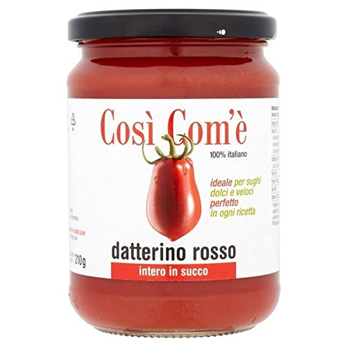 Cosi Come Datterino Tomato In Its Own Natural Juice 350g - Pack of 6 by Cosi Come