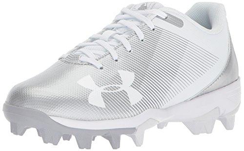 Under Adidas Armour - Under Armour Boys' Leadoff Low Jr. RM Baseball Shoe, White (100)/White, 3.5