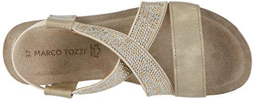 Marco Tozzi 28734, Sandalias con Cuña para Mujer Plateado (Platinum 957)